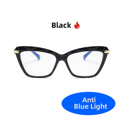 Black Cat Eye Anti-Blue Light Glasses