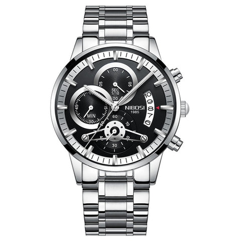 Nibosi Luxury Stainless Steel Chronograph Watches