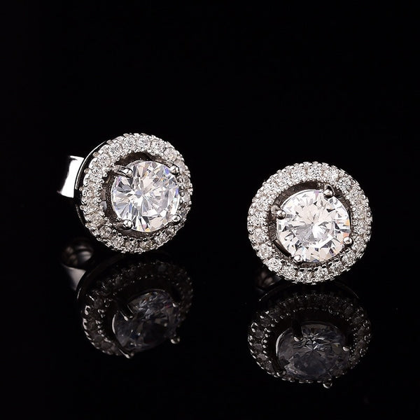 1.00ct Diamond Sterling Silver Earrings