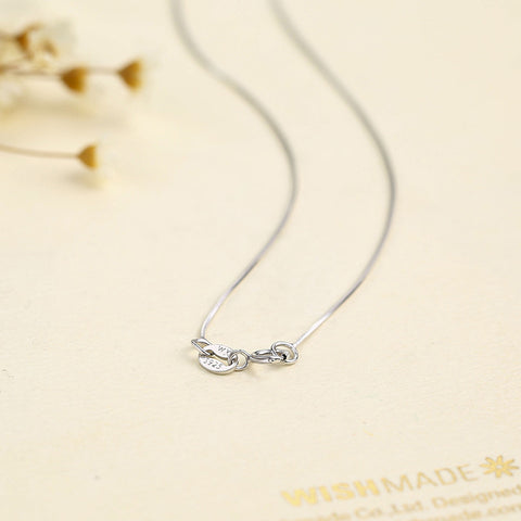 Sterling Silver Women Slim Thin Snake Necklaces