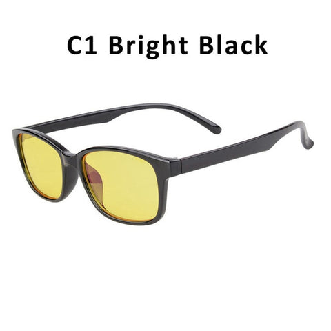 Unisex Anti-Blue Light Blocking Glasses - Clear & Yellow Shades