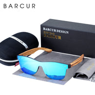 BARCUR Luxury Rimless Wooden Sunglasses UV400 Protection