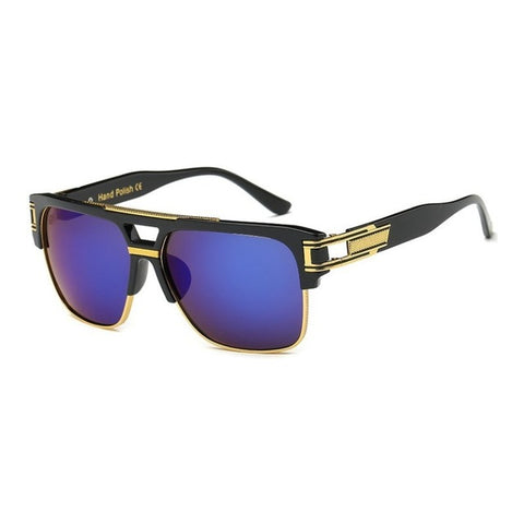 Luxury Retro Vintage Square Designer Sunglasses