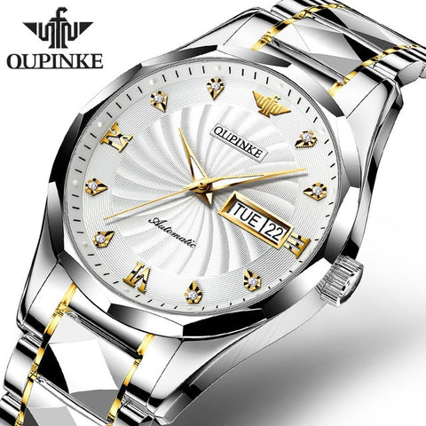 Swiss Luxury Sapphire Glass Tungsten Steel Men Automatic Mechanical Watch