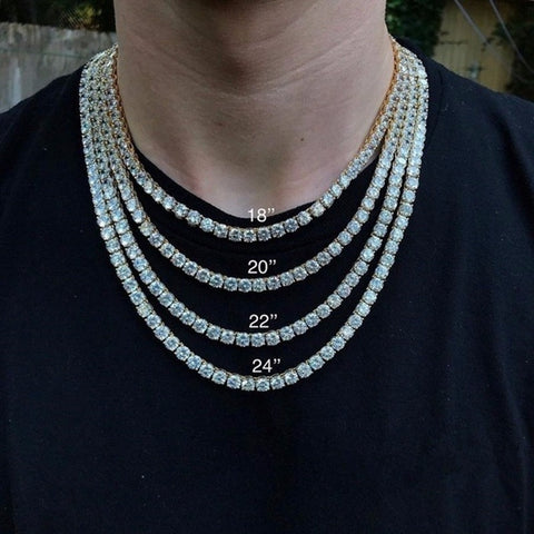 Hip Hop Single Layer Tennis Chains