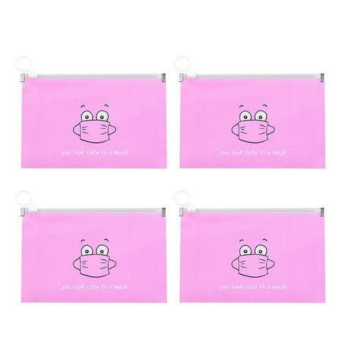 4 Pack Waterproof Fashion Mask Cover Bag