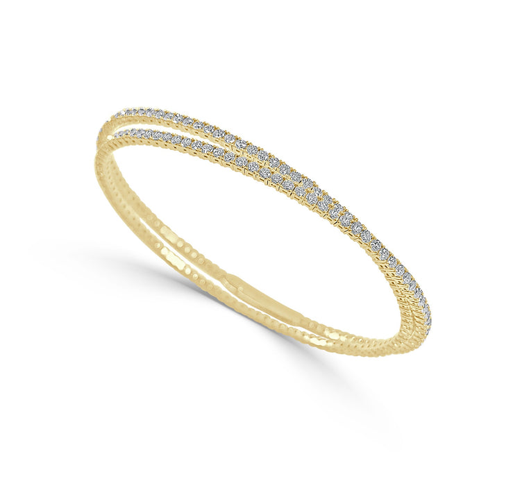 Diamond Tennis Wrap Bangle