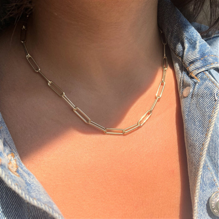 Paperclip Necklace - 18""