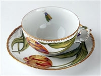 Pannonian Garden Double Tulips Cup & Saucer