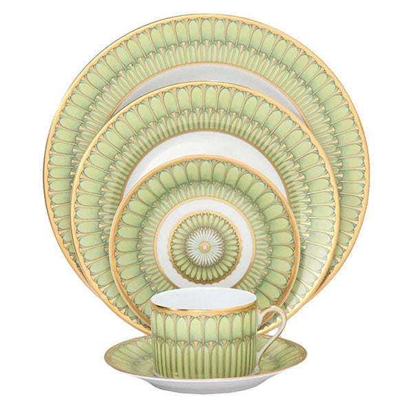 Arcades Green & Gold Fine China Collection