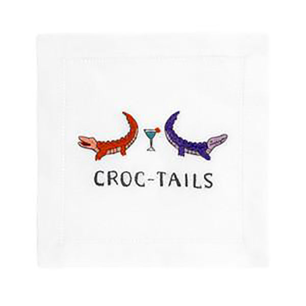 August Morgan Croc-Tails Cocktail Napkin
