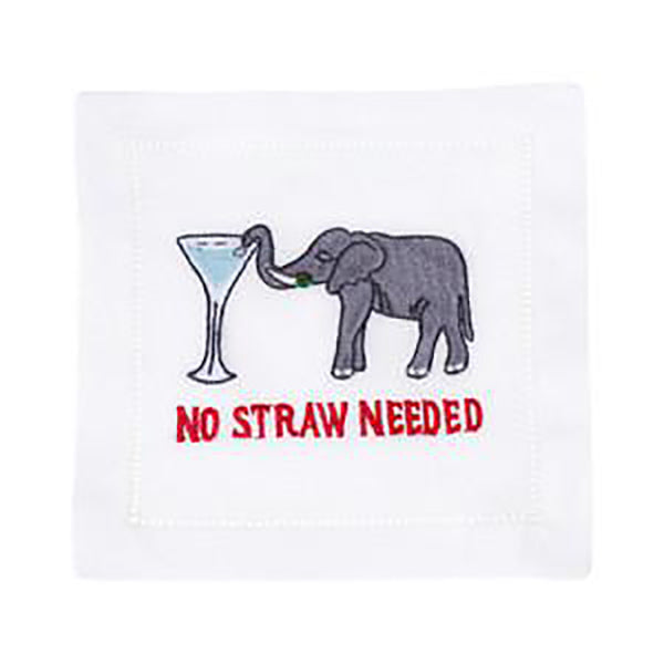 August Morgan No Straw Needed Cocktail Napkin
