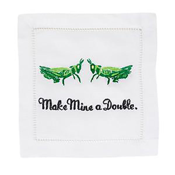 August Morgan Make Mine A Double Cocktail Napkin