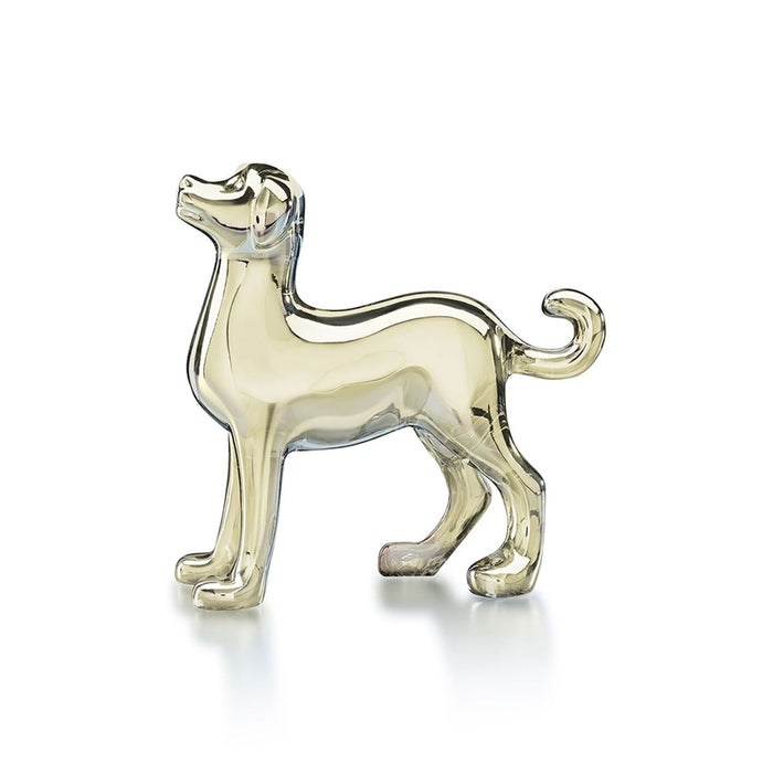 Zodiac Gold Crystal Dog