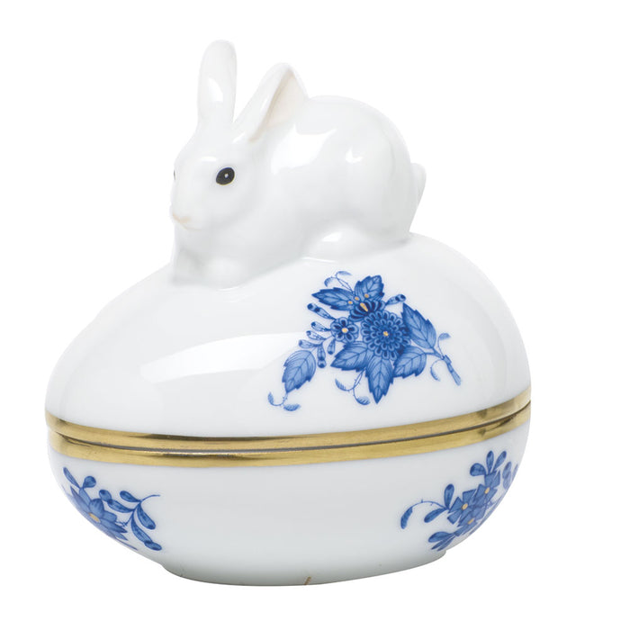 Chinese Bouquet Blue Egg Bonbon with Bunny