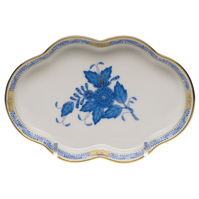 Chinese Bouquet Small Scalloped Tray - 2 Colors Available