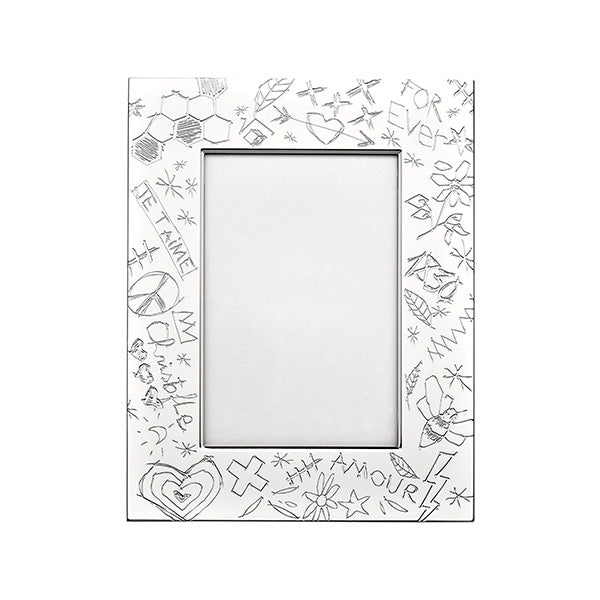 Graffiti Silver Plated Picture Frame - 2 Sizes Available