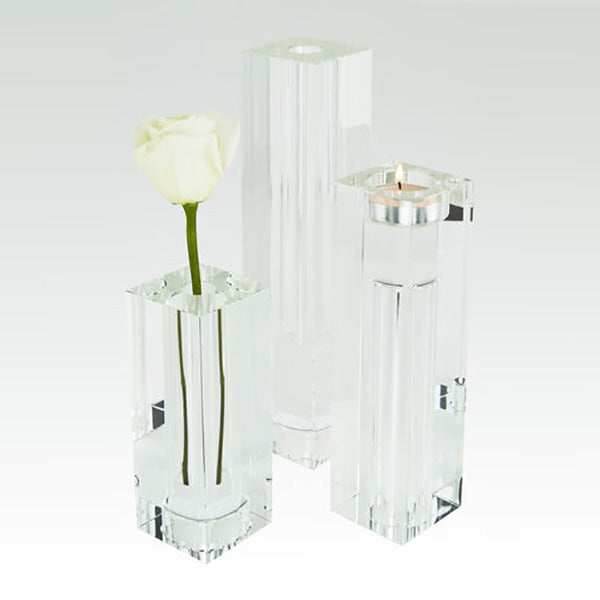 Clear Crystal Bud Vase / Tea Light - 3 Sizes Available