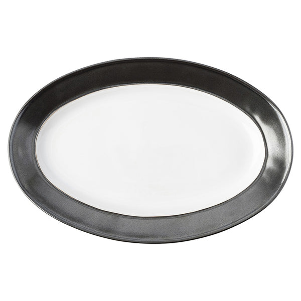 "Emerson White & Pewter 15"" Oval Platter"