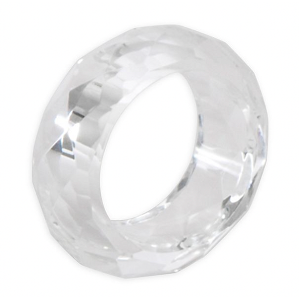 Faceted Crystal Round Napkin Ring