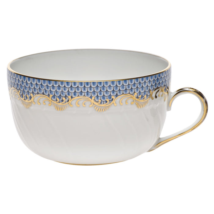 Fish Scale Light Blue Fine China Collection