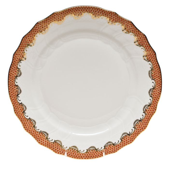 Fish Scale Rust Fine China Collection