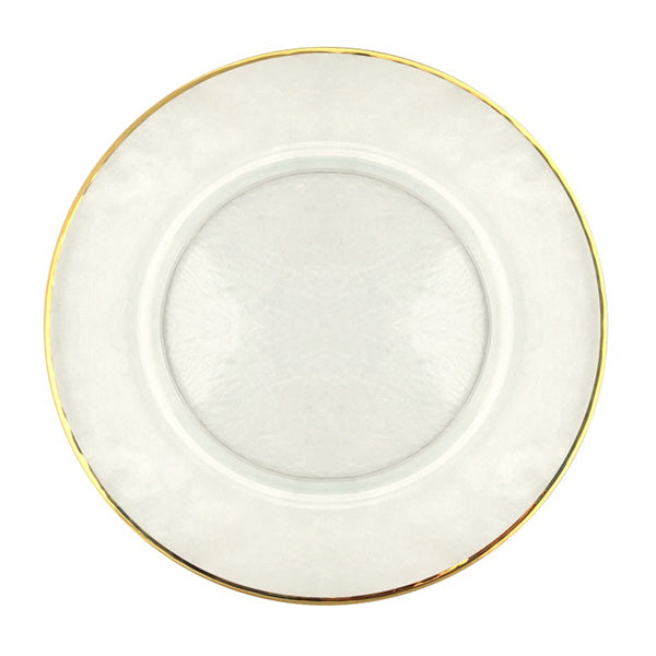 Gilt Gold Rim Hammered Charger