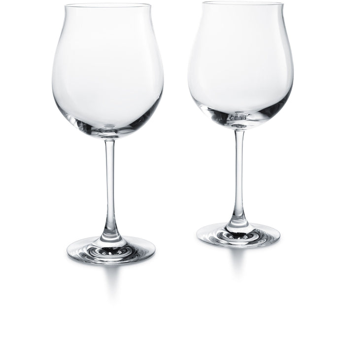 Grand Burgundy Crystal Glass Set