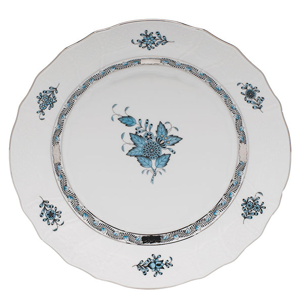 Chinese Bouquet Turquoise and Platinum Fine China Collection
