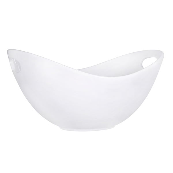 Pure White Oval Bowl