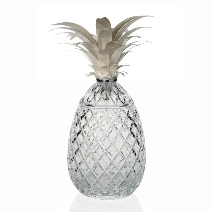 Isadora Pineapple Centerpiece in Silver - 3 Sizes Available