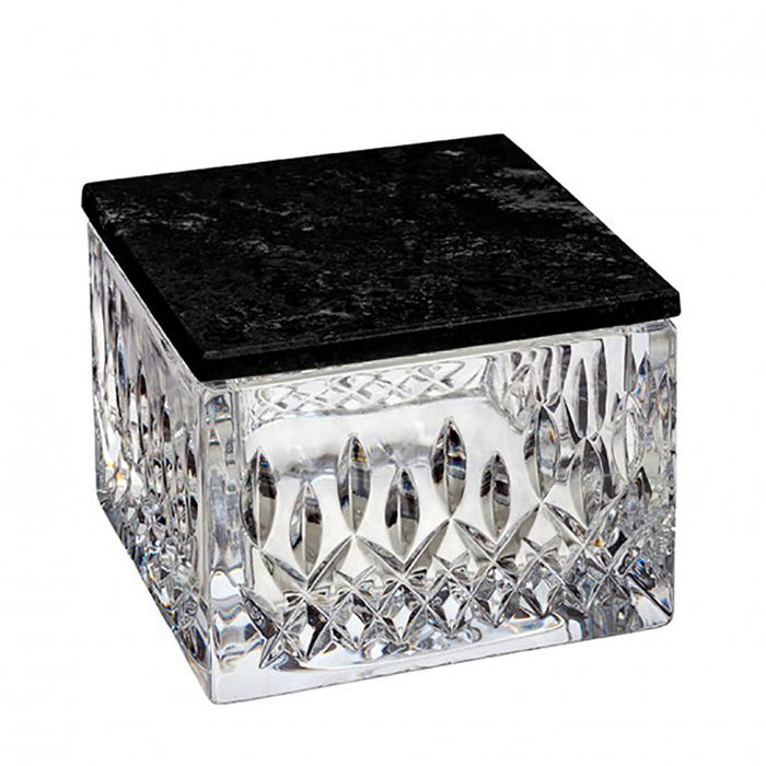 Lismore Box with Black Marble Lid