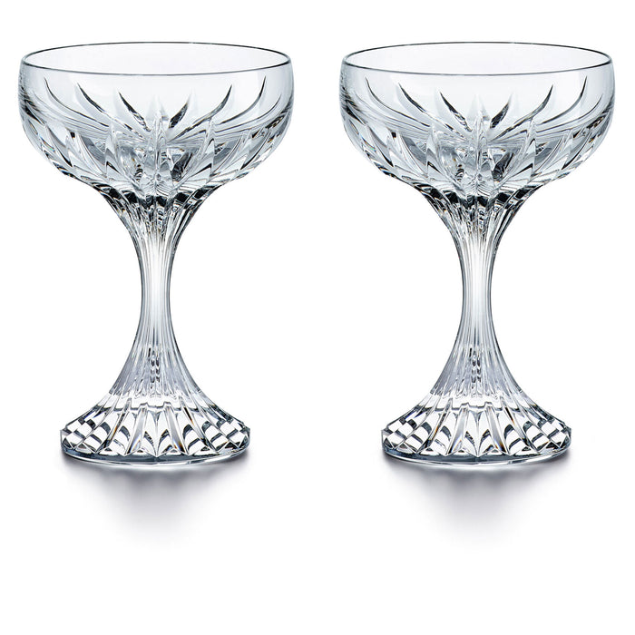 Massena Crystal Champagne Coupe Set