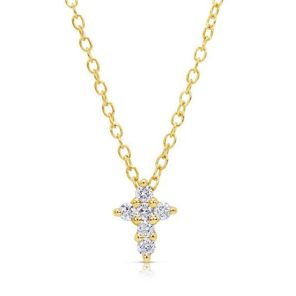 Petite Diamond Cross Pendant - .11 TCW - 2 Options Available