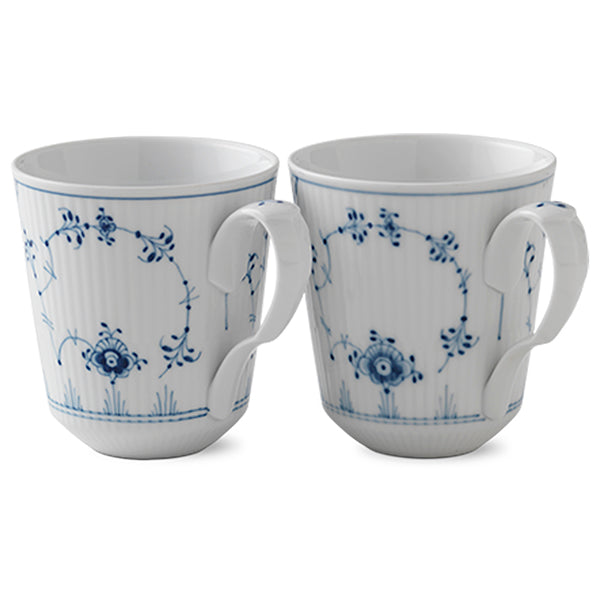 Blue Fluted Plain Fine China Collection