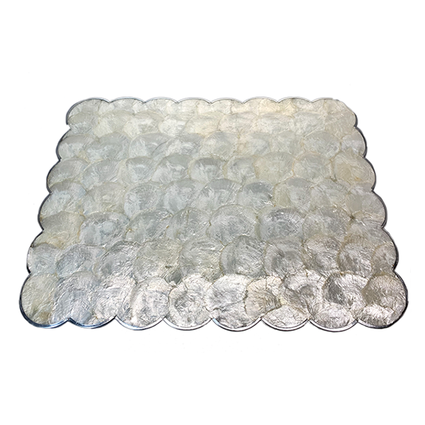 Silver Capiz Shell Placemat Set