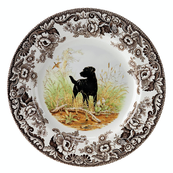 Woodland Black Lab Dinnerware Collection