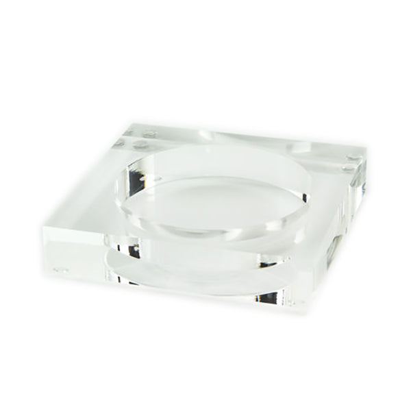 Lucite Wine Coaster - 2 Colors Available
