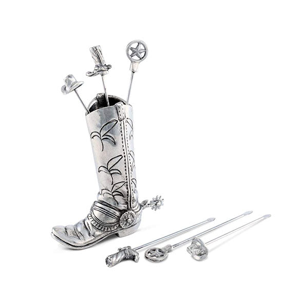 Western Boot Cheese Pick Set