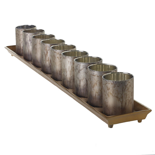 Wilder Candle Tray with 9 Votives - 2 Colors Available