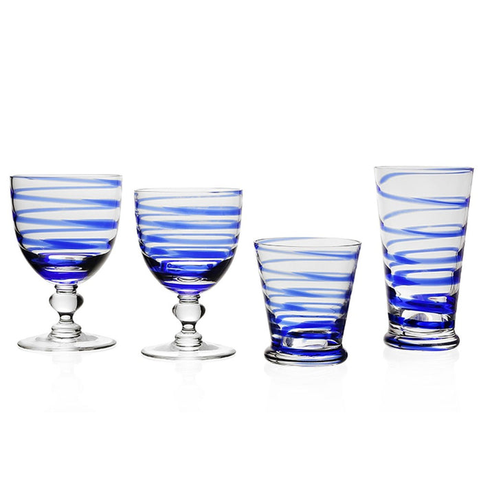 Bella Blue Glassware Collection