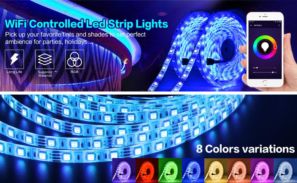 Remote Controlled LED Strip Light