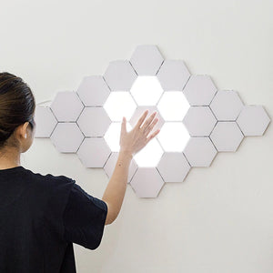 Open image in slideshow, Light Touch Sensitive Sensor Night Lamp Modular Hexagonal LED Magnetic Wall Lamp LED night light