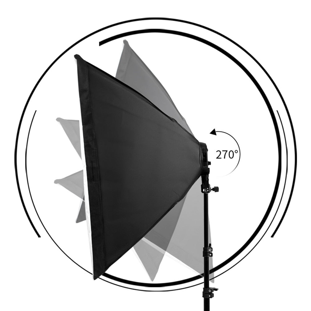 Professional Photo Studio Softbox Lights Continuous Lighting Kit Accessories