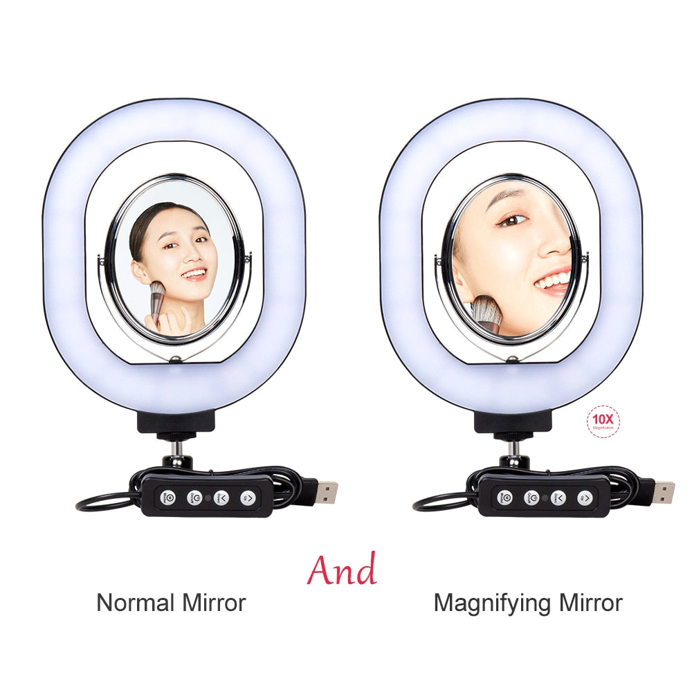 Selfie Ring Light with Mirror