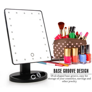 Open image in slideshow, LED Touch Screen Makeup Mirror
