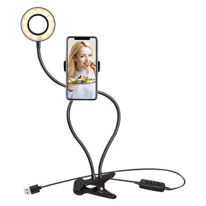 Open image in slideshow, Studio LED Light With Cell Phone Holder