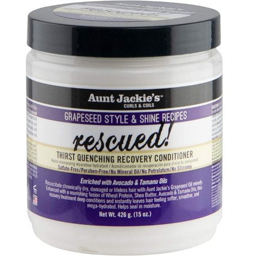 Aunt Jackie's Grapeseed Style & Shine Recipes RESCUED! Thirst Quenching Recovery Conditioner