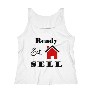 """Ready, Set, Sell"" Women's Relaxed Tank Top"