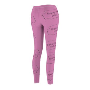 """Keeping it Real, Estate that Is"" Pink Leggings"